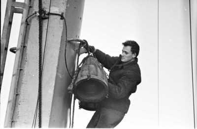 Lietuvos žvejai Šiaurės Atlante. Laive / Bernardas Aleknavičius. - 1966