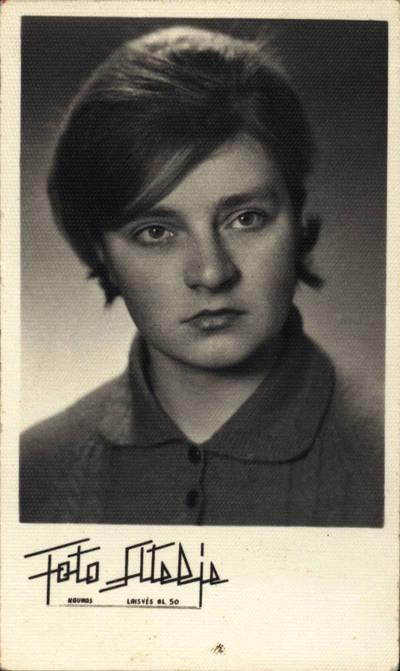 Nežinomas fotografas. Lima Banevičiūtė 1963 m. Kūno kultūros instituto II kurso studentė. 1963