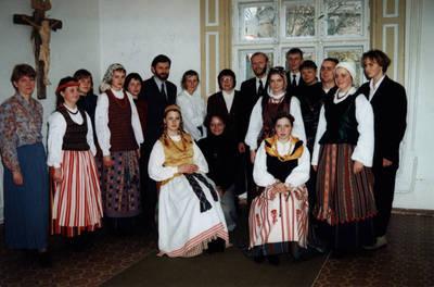 Arūnas Zalanskas. D. ir Z. Kalesinskų liaudies amatų mokyklos penkių veiklos metų minėjimas. 1996-10-18