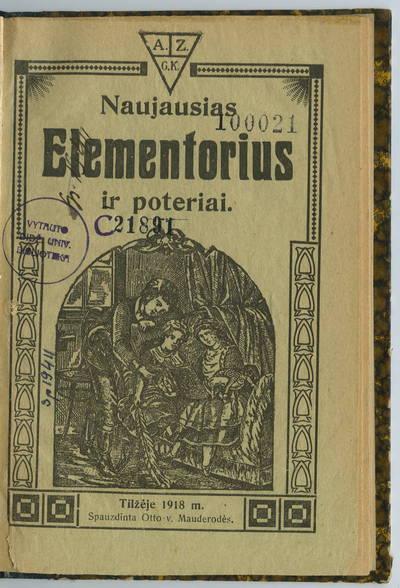 Naujausias elementorius ir poteriai. - 1918