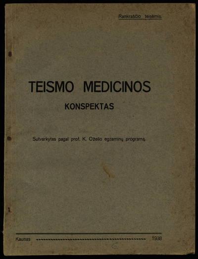 Teismo medicinos konspektas. - 1938