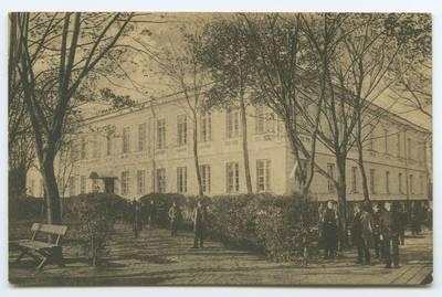 Senieji Lietuvos atvirukai ir fotografijos. Šiauliai. Siauliai. Simnazija. - 1919