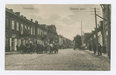 Senieji Lietuvos atvirukai ir fotografijos. Panevėžys. Panevėžys. Šeduvos gatvė