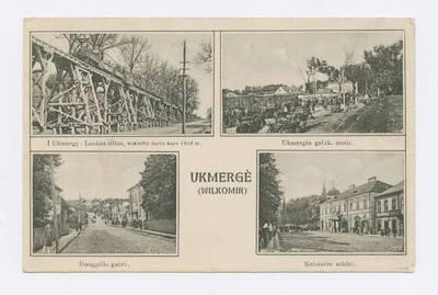 Senieji Lietuvos atvirukai ir fotografijos. Kitos Lietuvos vietovės. Ukmergė