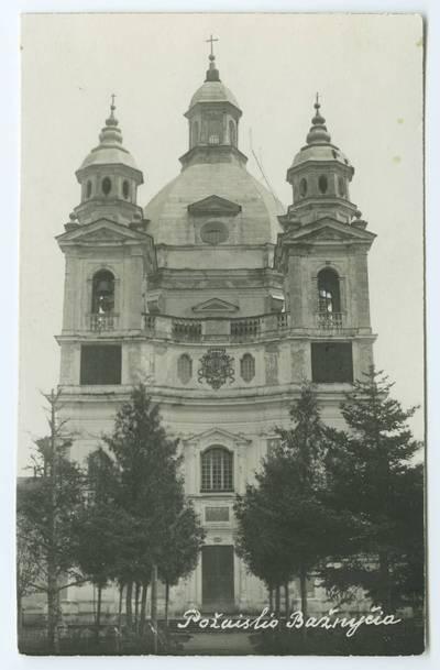 Senieji Lietuvos atvirukai ir fotografijos. Kaunas ir jo apylinkės. Požaislio bažnyčia