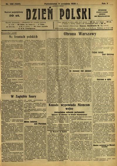 Dzień Polski / redaktor-wydawca Józef Majewski. - 1935-1940