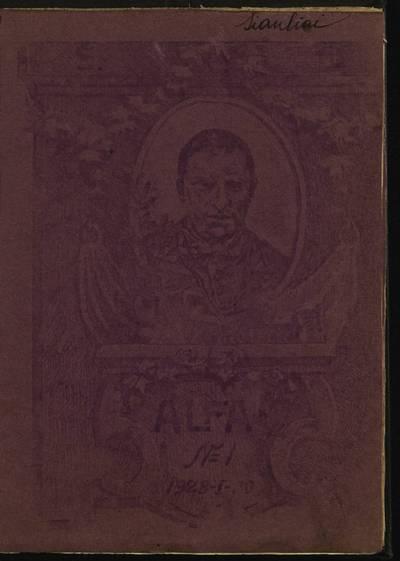 Laikraštėlių kolekcija. Jaunimo organizacijų leidiniai. Alfa. Nr. 1 / red. E. Butrimavičius. - 1928.01.20