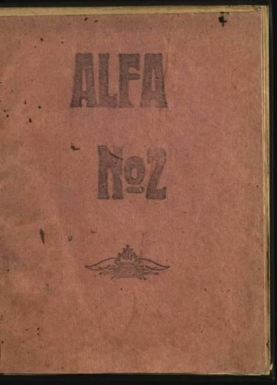 Laikraštėlių kolekcija. Jaunimo organizacijų leidiniai. Alfa. Nr. 2 / red. E. Butrimavičius. - 1928.05.10