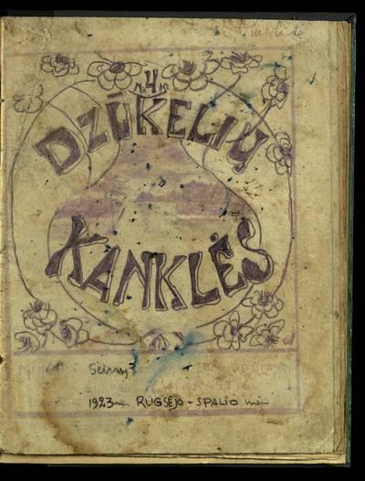 Laikraštėlių kolekcija. Jaunimo organizacijų leidiniai. Dzūkelių kanklės. Nr. 4. - 1923.09-10