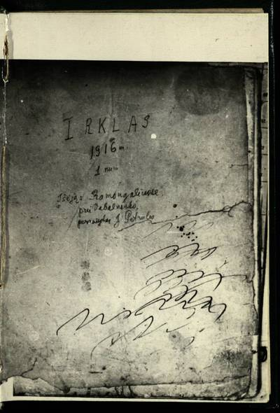 Laikraštėlių kolekcija. Jaunimo organizacijų leidiniai. Irklas. Nr. 1 / perrašytas J. Petrulio. - 1916.05