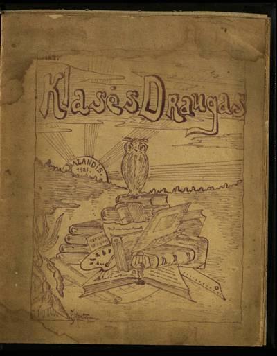 Laikraštėlių kolekcija. Jaunimo organizacijų leidiniai. Klasės draugas. Nr. 4 / Telšių gimnazija. - 1921.04