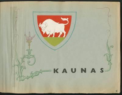 Aleksandro Pleskačiausko rankraščių apie Kauną rinkinys. Kaunas. [D. 1] / [Aleksandras Pleskačiauskas]. - 1975