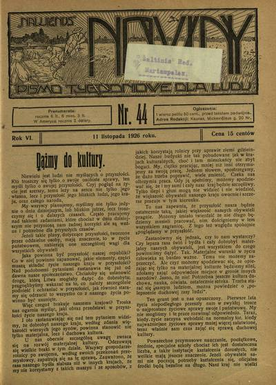 Nowiny / redaktor Piotr Rusiecki. - 1921-1932