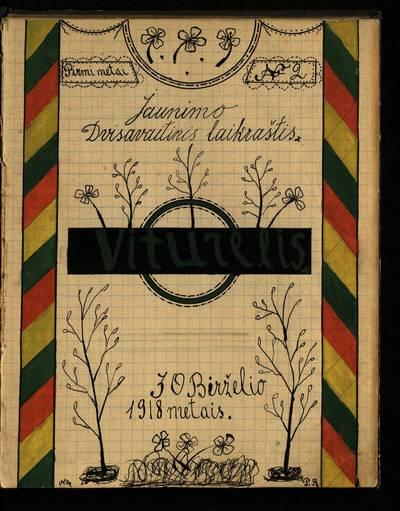 Laikraštėlių kolekcija. Jaunimo organizacijų leidiniai. Viturėlis. Nr. 2 / red. ir leid. Pranas Bikinas. - 1918.06.30