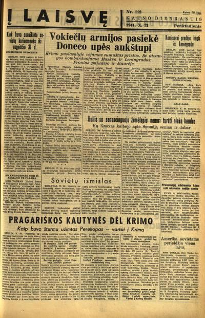 Į laisvę. - 1941-1942