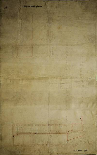 A. Vitortas. Telefonų tinklo ketvirtojo ir penktojo aukštų plano projektas. 1931