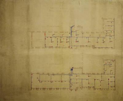 Lietuvos banko (Žemės banko patalpose) trečiojo aukšto plano projektas. 1927