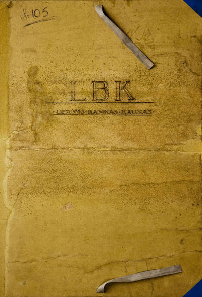 Lietuvos banko Kaune pastato konkursiniams projektams sudėti aplankas. 1925