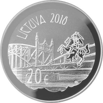 Alvydas Ladyga. Moneta, kolekcinė. 20 eurų, skirta Vilhelmo Storostos-Vydūno 150-osioms gimimo metinėms. 2018