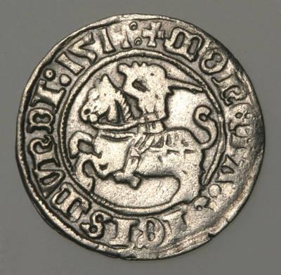 Moneta. Pusgrašis. Žygimantas Senasis (1506–1544). LDK. 1511