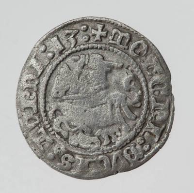 Moneta. Pusgrašis. Žygimantas Senasis (1506Ÿ–1544) LDK. 1513