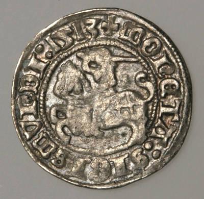 Moneta. Pusgrašis. Žygimantas Senasis (1506–1544). 1513 m. LDK. 1513
