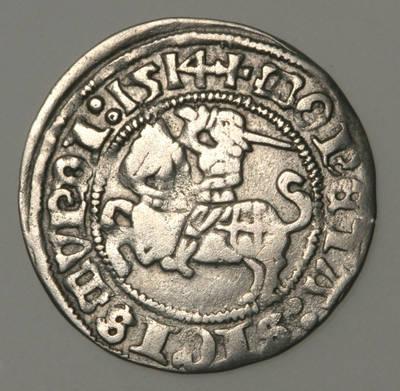 Moneta. Pusgrašis. Žygimantas Senasis (1506–1544). 1514 m. LDK. 1514