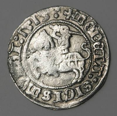 Moneta. Pusgrašis. Žygimantas Senasis (1506–1544). 1515 m. LDK. 1515