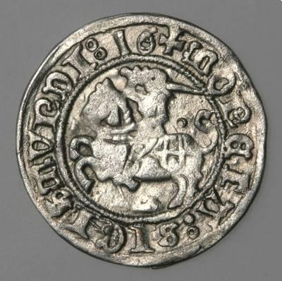 Moneta. Pusgrašis. Žygimantas Senasis (1506–1544). 1516 m. LDK. 1516