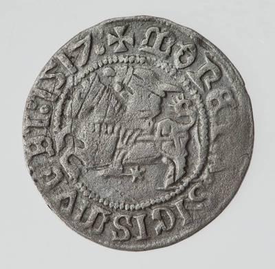 Moneta. Pusgrašis. Žygimantas Senasis (1506–1544). 1517 m. LDK. 1517