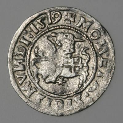 Moneta. Pusgrašis. Žygimantas Senasis (1506–1544). 1519 m. LDK. 1519