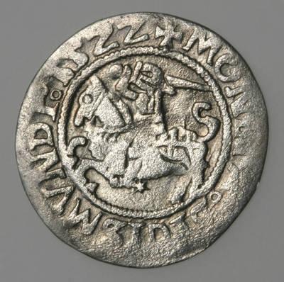 Moneta. Pusgrašis. Žygimantas Senasis (1506–1544). 1522 m. LDK. 1522
