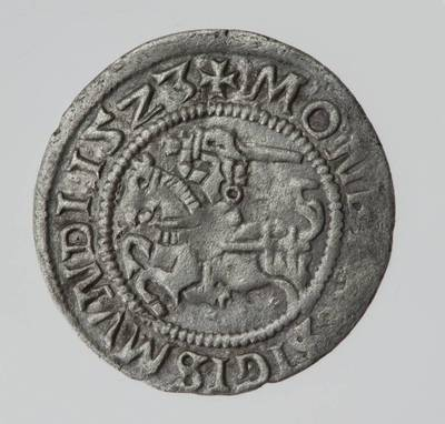 Moneta. Pusgrašis. Žygimantas Senasis (1506–1544). 1523 m. LDK. 1523