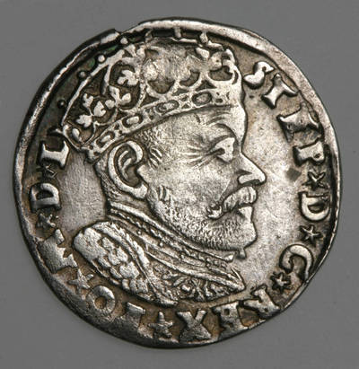 Moneta. Trigrašis. Steponas Batoras (1576–1586). 1584 m. LDK. 1584