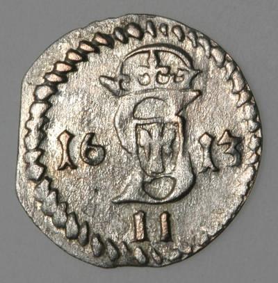 Moneta. Dvidenaris. Zigmantas Vaza (1588–1632). 1613 m. LDK. 1613