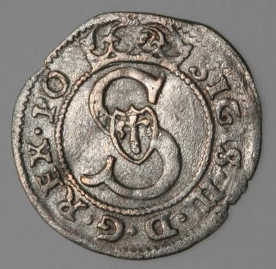 Moneta. Šilingas. Zigmantas Vaza (1588–1632). 1592 m. LDK. 1592
