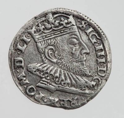 Moneta. Trigrašis. Zigmantas Vaza (1588–1632). 1593 m. LDK