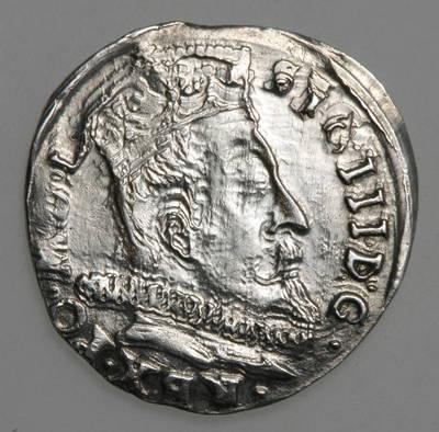 Moneta. Trigrašis. Zigmantas Vaza (1588–1632). 1598 m. LDK