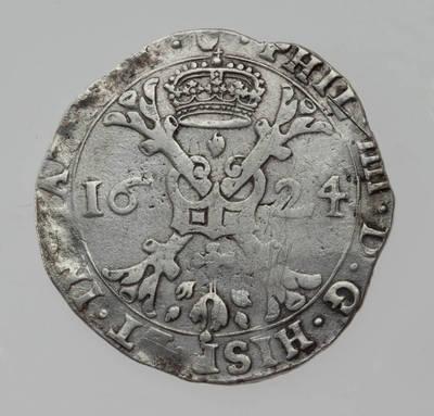 Moneta. Taleris (patagonas). 1624 m. Ispanijos Nyderlandai. 1624