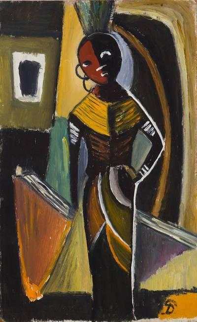 Pranas Domšaitis. Viena figūra. 1954