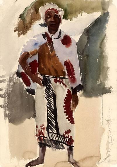 Pranas Domšaitis. Moteris. 1958