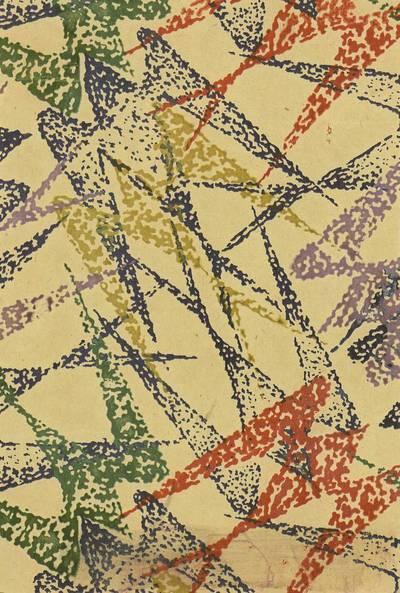 Romanas Sirotskis. Šilko marginimo projektas. 1975