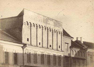 Janas Bulhakas. Fotografijų albumas Fotografijos archyvas, t. 2. Kapitulos namo Pilies gatvėje fragmentas. 1912