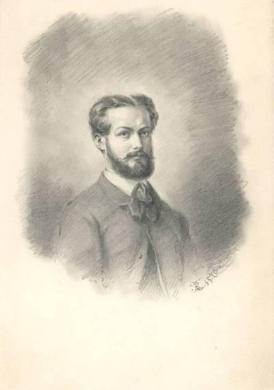 Boleslovas Mykolas Ruseckas. Nežinomo vyro portretas. 1840