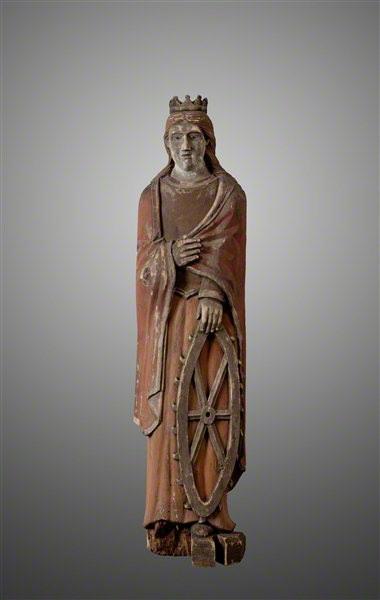 Nežinomas liaudies skulptorius. Šv. Kotryna. XIX a. II p.