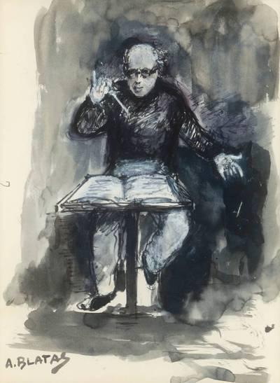 Neemija Arbit Blatas. Mstislavas Rostropovičius diriguoja
