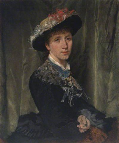 Nežinomas lenkų XIX a. pab. dailininkas. Moteris su skrybėlaite. XIX a. pab.