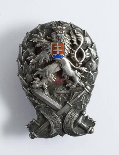 Ženklas. Čekoslovakijos Generalinio štabo akademijos baigimo. Gen. št. plk. Antano Šovos. 1910