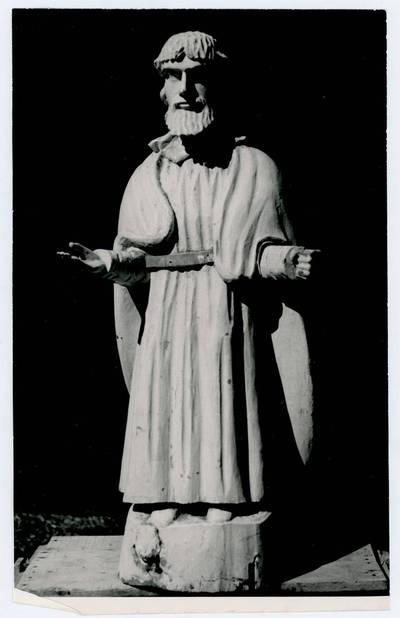 Mečislovas Sakalauskas. Šventojo skulptūra Upynos bažnyčioje. 1964