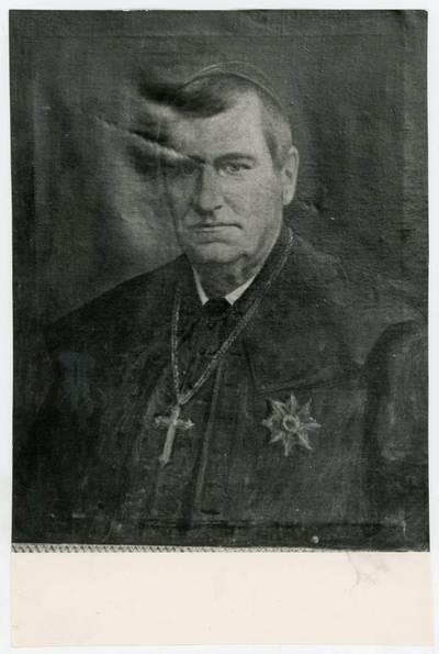 Mečislovas Sakalauskas. Vyskupo portretas Telšių katedroje. 1964